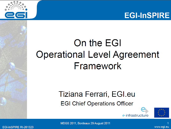 ola document template - on the egi operational level agreement framework